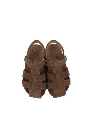 Kids A More Bangle Tek Cırtlı Deri Unisex Çocuk Sandalet Kum Rengi Bej